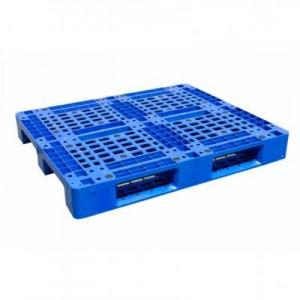 Pallet nhựa liền khối một mặt – 3 đường thẳng – 4 đường nâng HT466