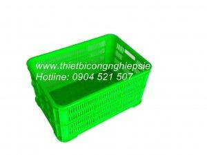 Thùng nhựa HS004 đáy đặc(610x420x310)
